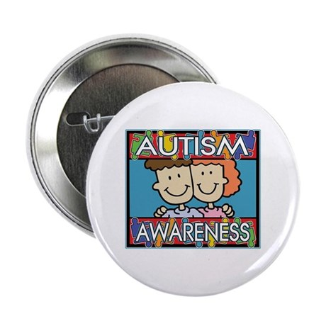 "Cute Autism Awareness 2.25"" Button"