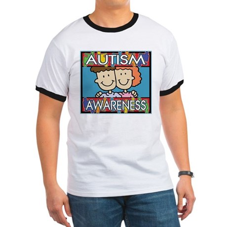 Cute Autism Awareness Ringer T