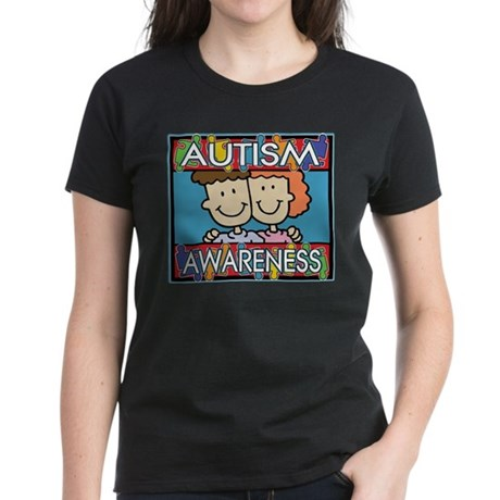 Cute Autism Awareness Women's Dark T-Shirt