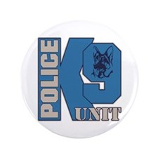 "Police K9 Unit Dog 3.5"" Button"