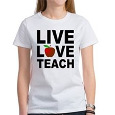 Live Love Teach Apple Tee