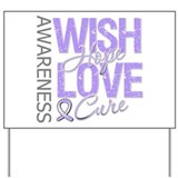 General Cancer Wish Hope Yard Sign