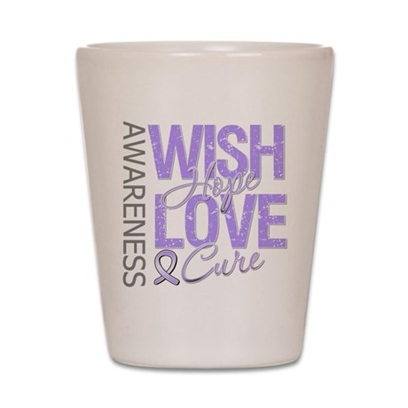 General Cancer Wish Hope Shot Glass