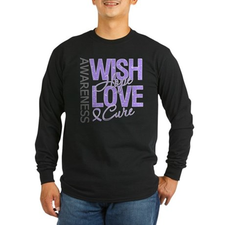 General Cancer Wish Hope Long Sleeve Dark T-Shirt