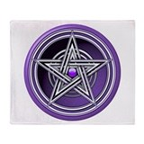 Purple Pentacle w/inlay Throw Blanket