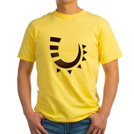 Tribal Hook Yellow T-Shirt
