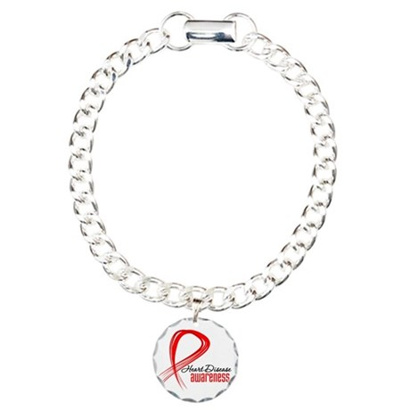 Heart Disease Awareness Charm Bracelet, One Charm