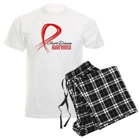 Heart Disease Awareness Men's Light Pajamas