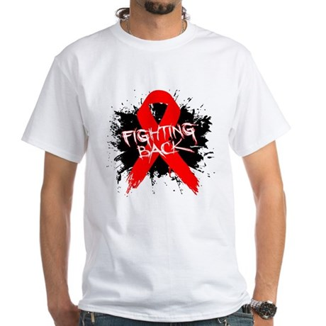 Fighting Back Heart Disease White T-Shirt