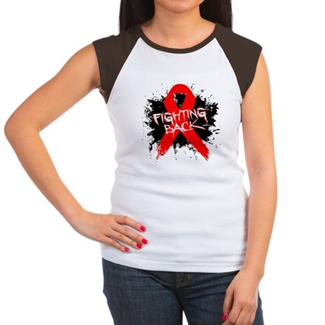 Fighting Back Heart Disease Women's Cap Sleeve T-S