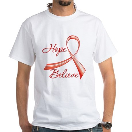 Heart Disease White T-Shirt