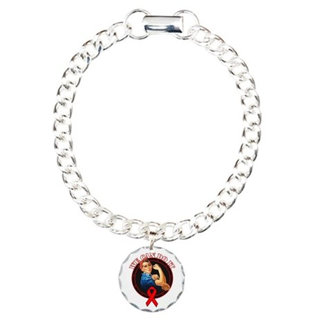 We Can Do It Heart Disease Charm Bracelet, One Cha