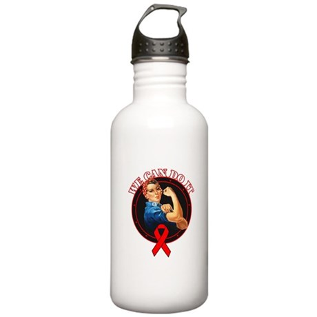 We Can Do It Heart Disease Stainless Water Bottle