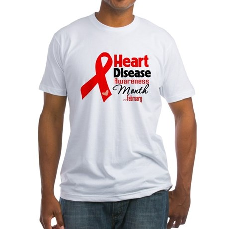 Heart Disease Fitted T-Shirt