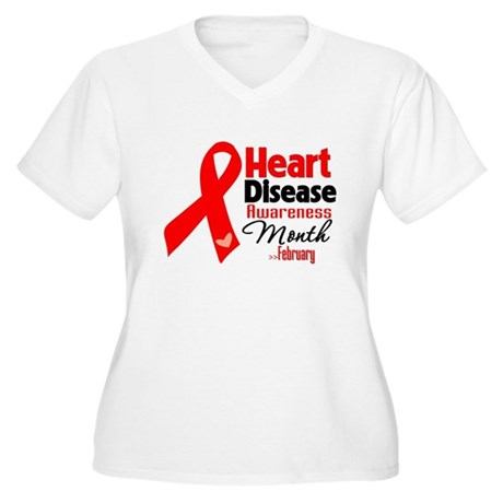 Heart Disease Women's Plus Size V-Neck T-Shirt
