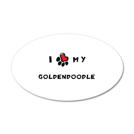 I *heart* My Goldendoodle 22x14 Oval Wall Peel