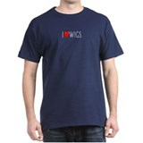 I Love Wigs Black T-Shirt