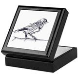 Industrial Finch (silver) Keepsake Box