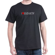 I Love Elizabeth Black T-Shirt