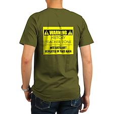 WARNING: History Teacher T-Shirt
