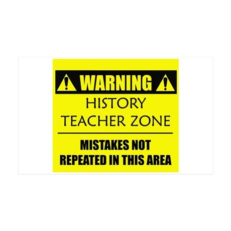 WARNING: History Teacher 38.5 x 24.5 Wall Peel