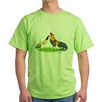 Blue Red Cubalayas Green T-Shirt