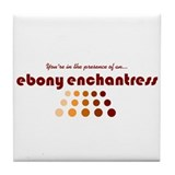 Ebony Enchantress Tile Coaster