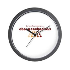 Ebony Enchantress Wall Clock