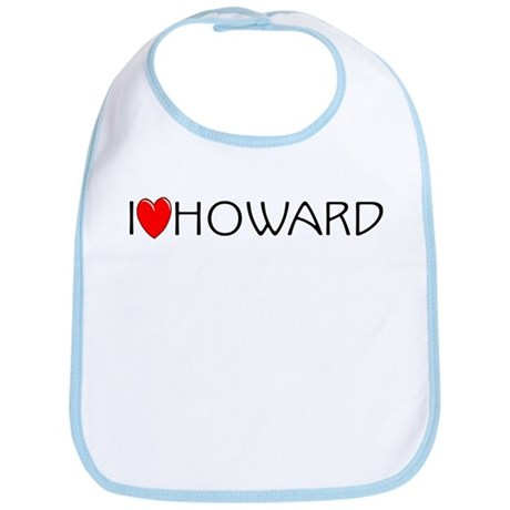I Love Howard Bib
