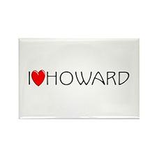 I Love Howard Rectangle Magnet