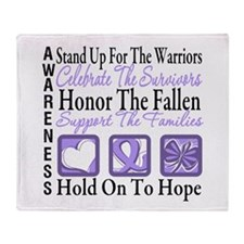 General Cancer Honor Throw Blanket