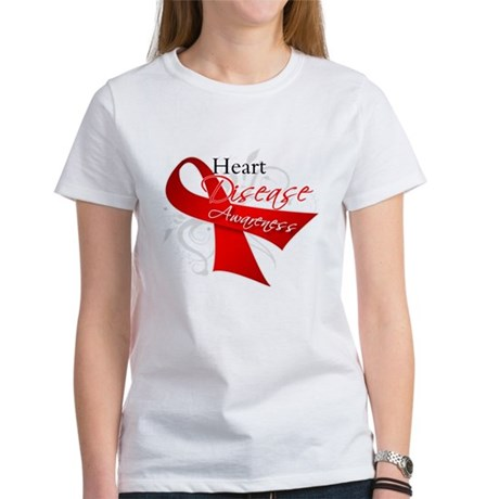 Heart Disease Ribbon Women's T-Shirt