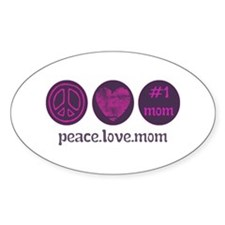 PEACE LOVE #1 MOM Decal