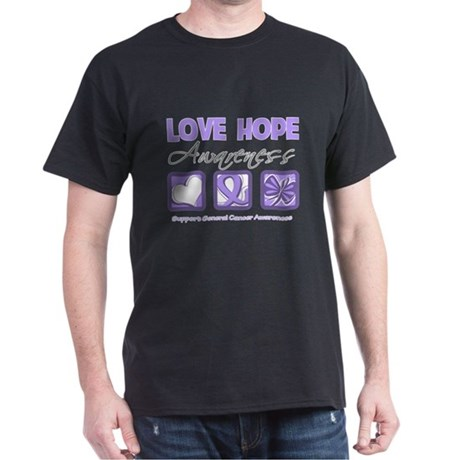 General Cancer Love Hope Dark T-Shirt