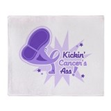 Kickin' General Cancer's Ass Throw Blanket