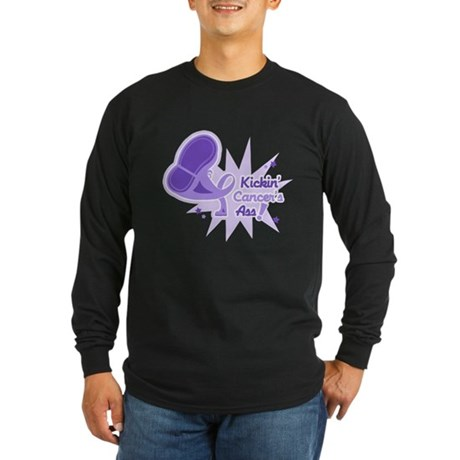 Kickin' General Cancer's Ass Long Sleeve Dark T-Sh