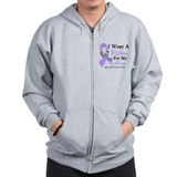 General Cancer Hero Ribbon Zip Hoody