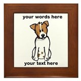 Jack russell terrier Framed Tiles