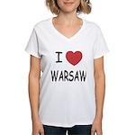 I heart warsaw Women's V-Neck T-Shirt