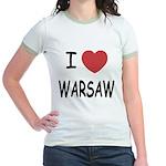 I heart warsaw Jr. Ringer T-Shirt