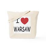 I heart warsaw Tote Bag
