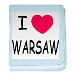 I heart warsaw baby blanket
