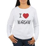 I heart warsaw Women's Long Sleeve T-Shirt