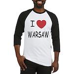 I heart warsaw Baseball Jersey