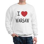 I heart warsaw Sweatshirt
