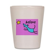 Believe Shot Glass