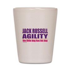 Jack Russell Agility Shot Glass