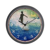 Vintage Surfer Wall Clock
