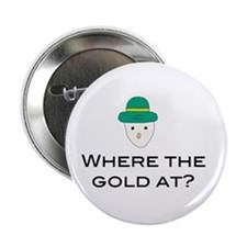 "Funny Mobile leprechaun 2.25"" Button (100 pack)"