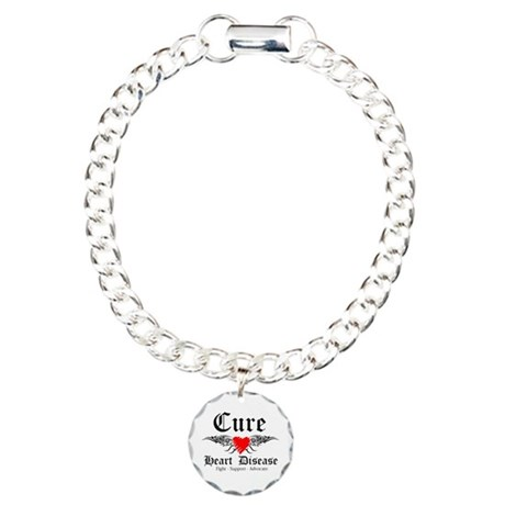 Cure Heart Disease Charm Bracelet, One Charm